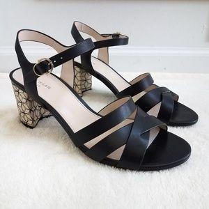 Cole Haan Jianna Mid Heel Leather Sandals